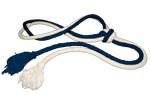 corde écru/bleue